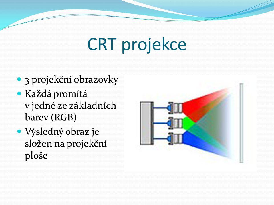 CRT projekce 3 projekční obrazovky