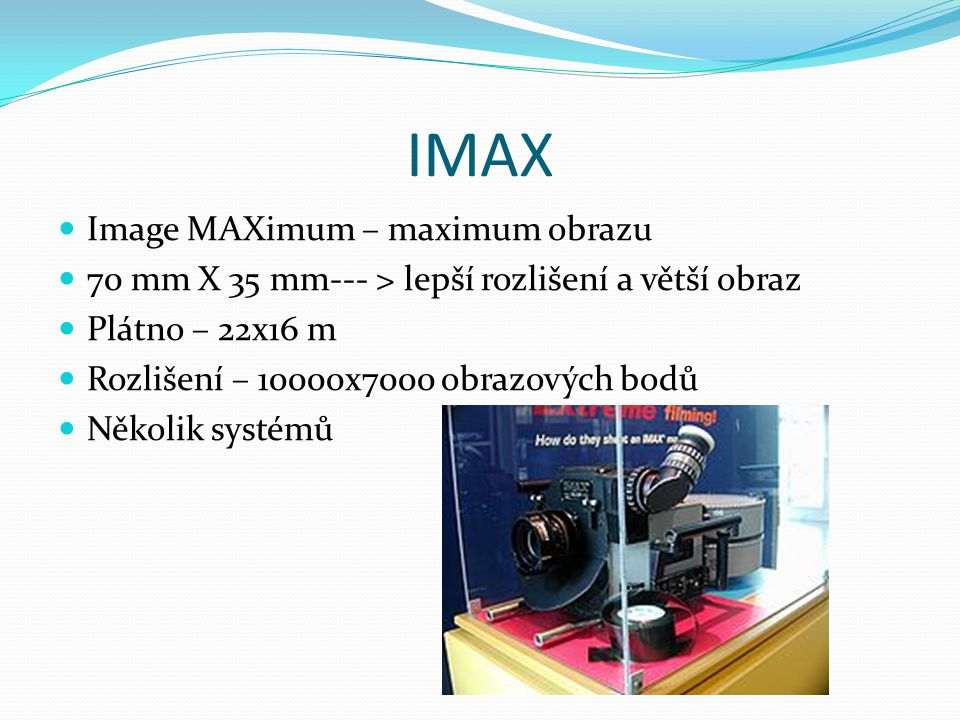 IMAX Image MAXimum – maximum obrazu