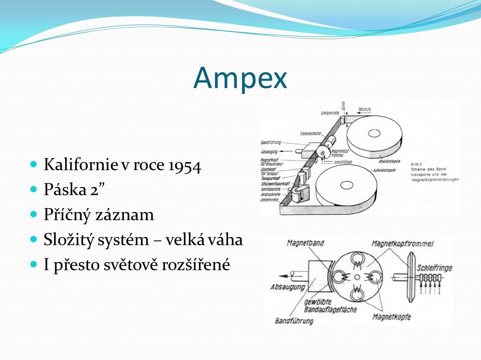 Ampex Kalifornie v roce 1954 Páska 2 Příčný záznam