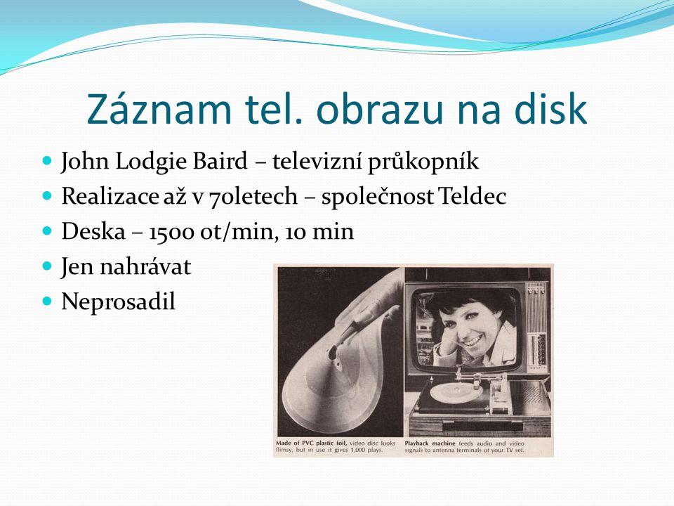 Záznam tel. obrazu na disk