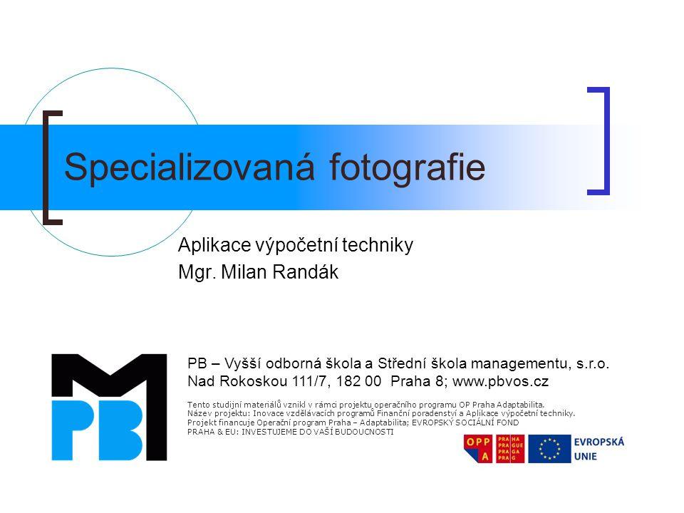 Specializovaná fotografie