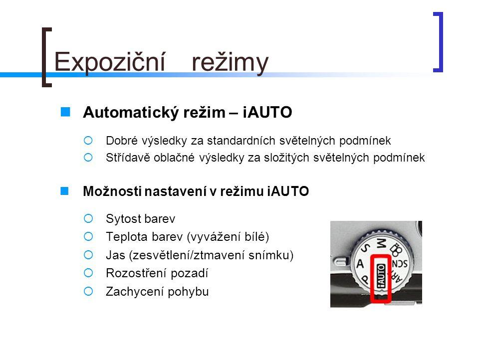 Expoziční režimy Automatický režim – iAUTO