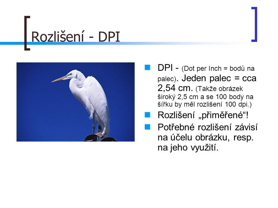 Rozlišení - DPI