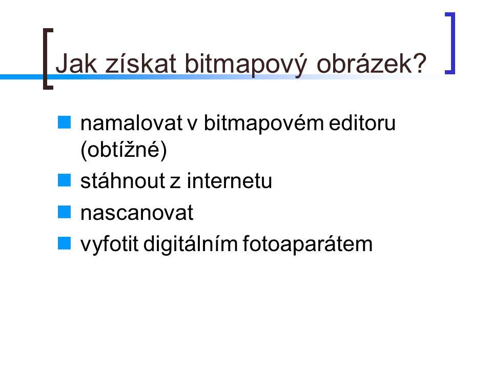 Jak získat bitmapový obrázek