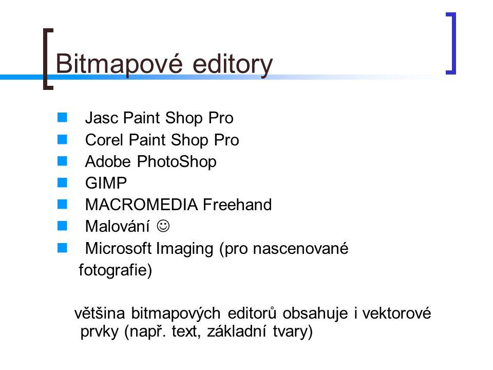 Bitmapové editory Jasc Paint Shop Pro Corel Paint Shop Pro