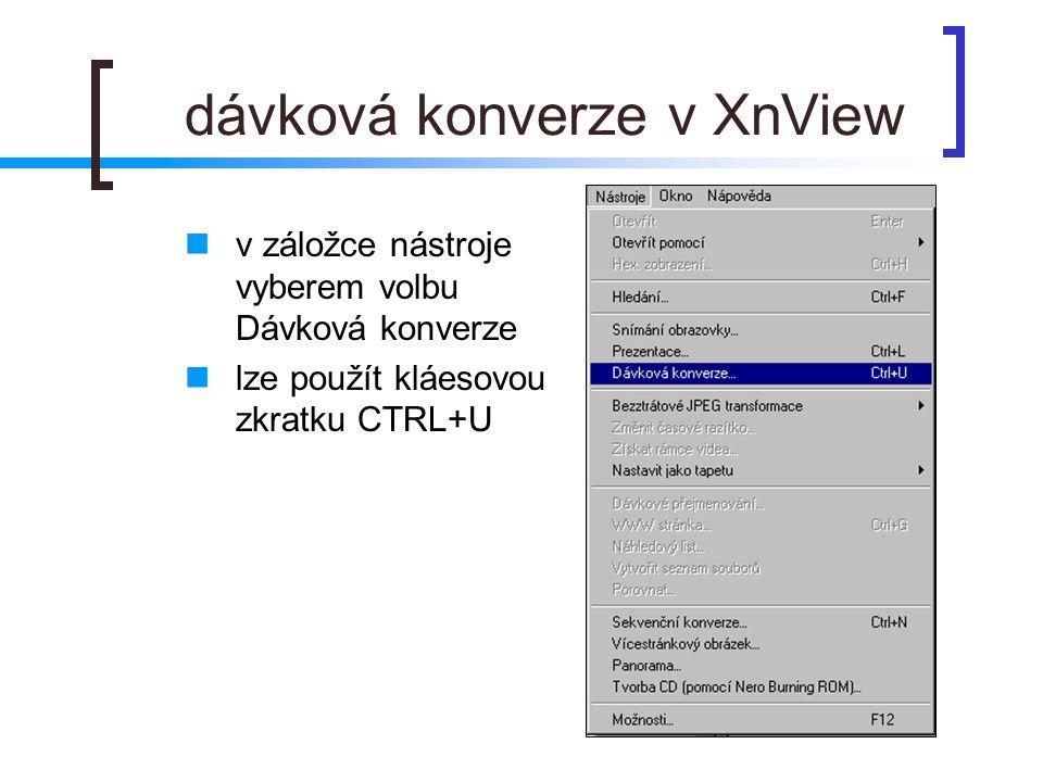 dávková konverze v XnView