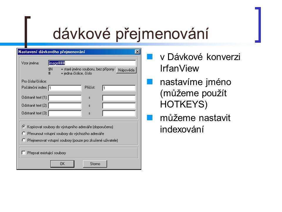 dávkové přejmenování v Dávkové konverzi IrfanView