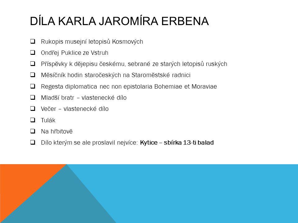 Díla Karla Jaromíra Erbena