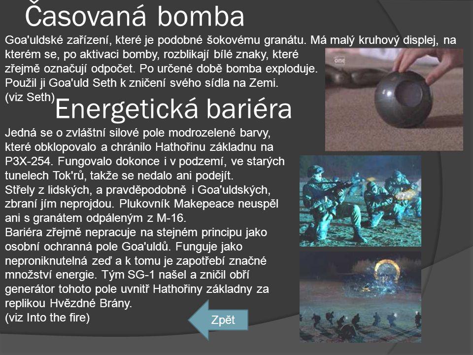 Časovaná bomba Energetická bariéra
