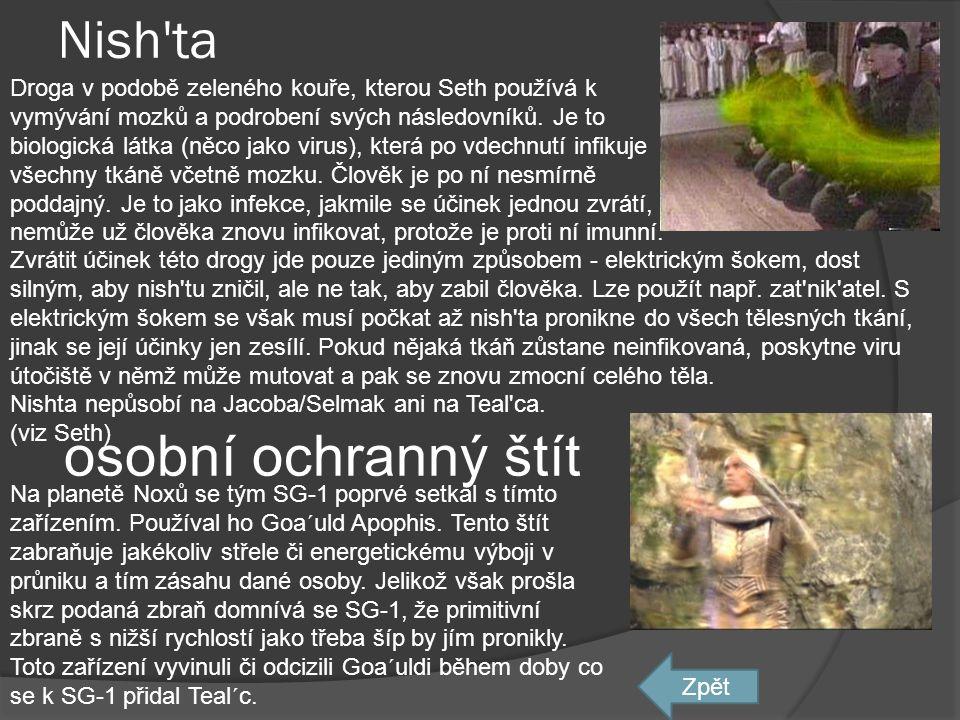 osobní ochranný štít Nish ta