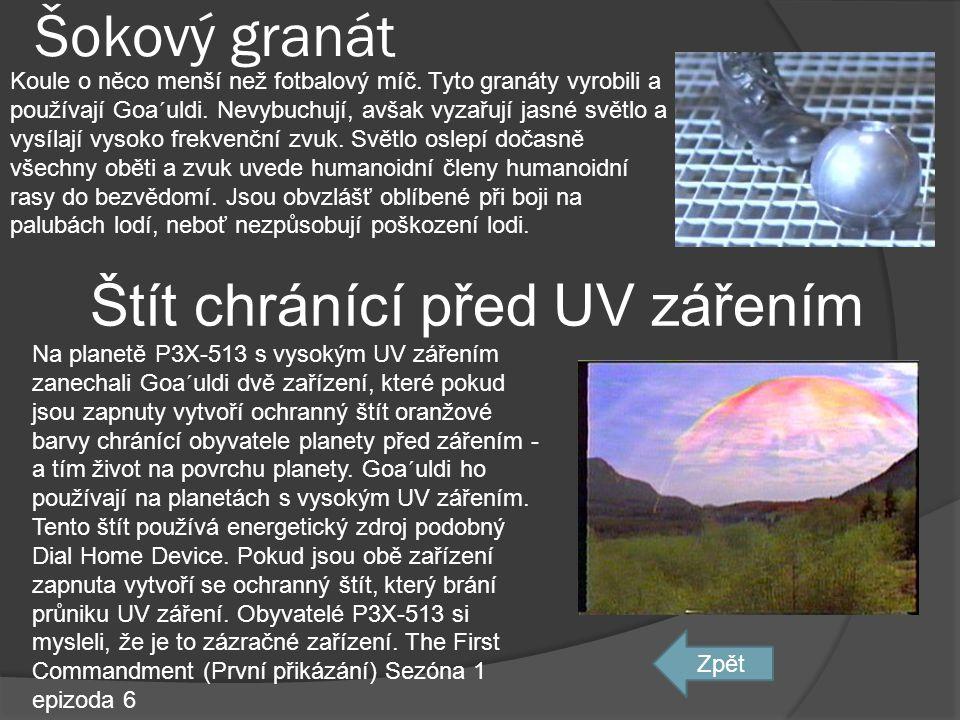 Štít chránící před UV zářením