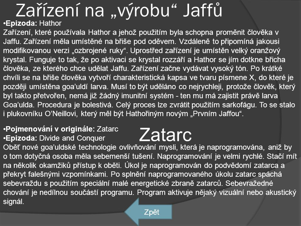 """Zařízení na """"výrobu Jaffů"""