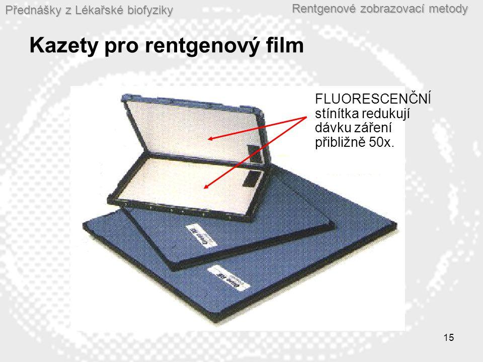Kazety pro rentgenový film