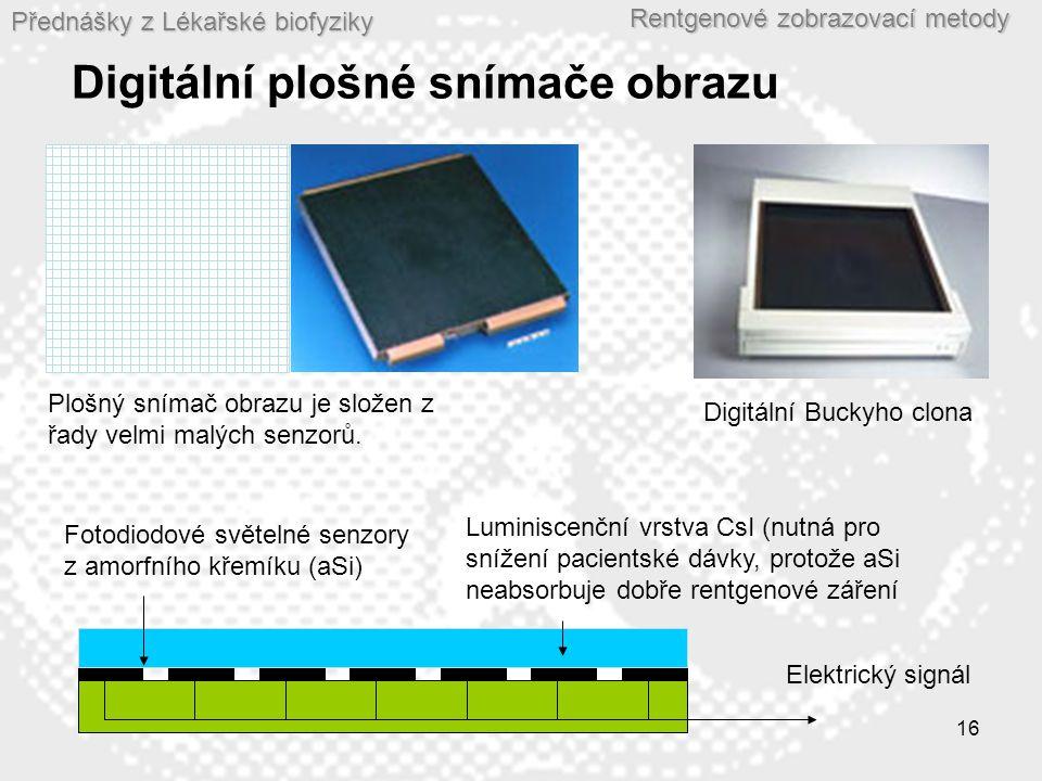 Digitální plošné snímače obrazu
