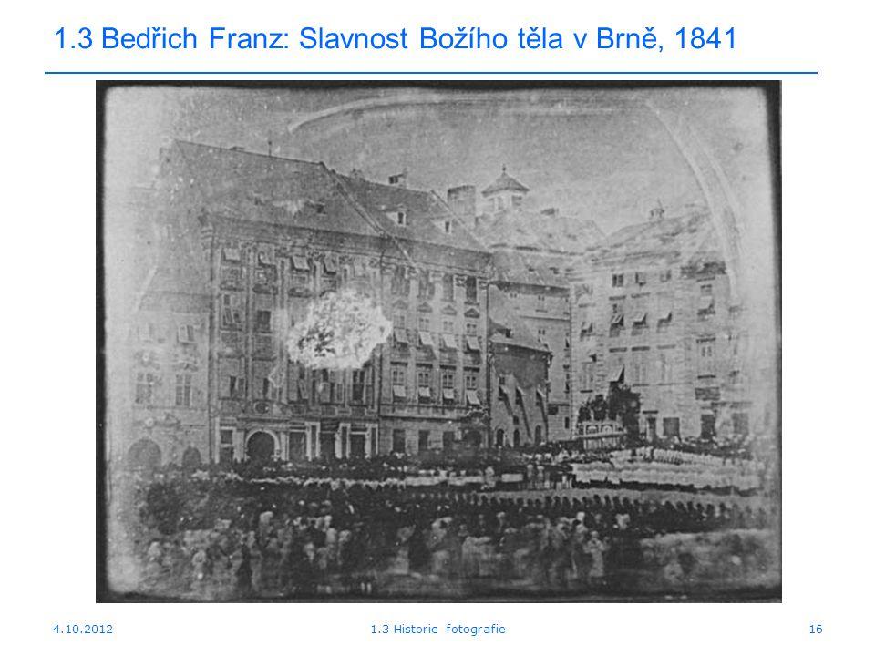 1.3 Bedřich Franz: Slavnost Božího těla v Brně, 1841