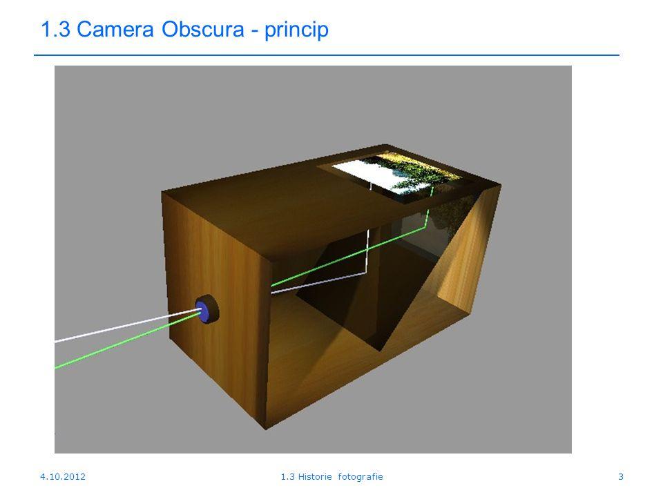 1.3 Camera Obscura - princip