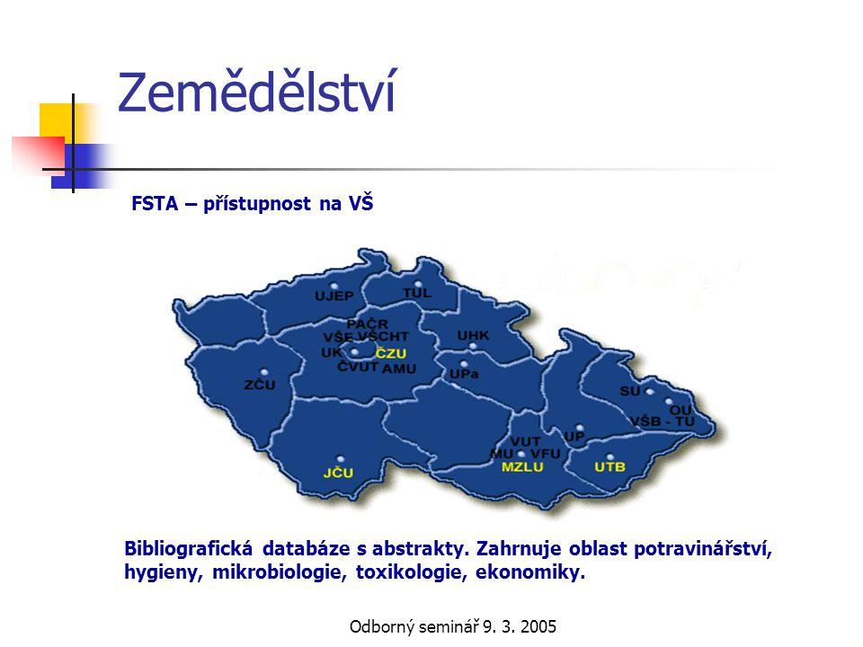 Zemědělství FSTA – přístupnost na VŠ