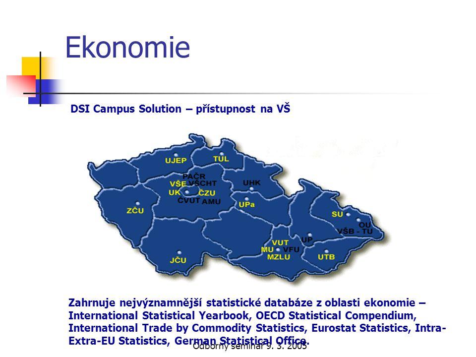 Ekonomie DSI Campus Solution – přístupnost na VŠ