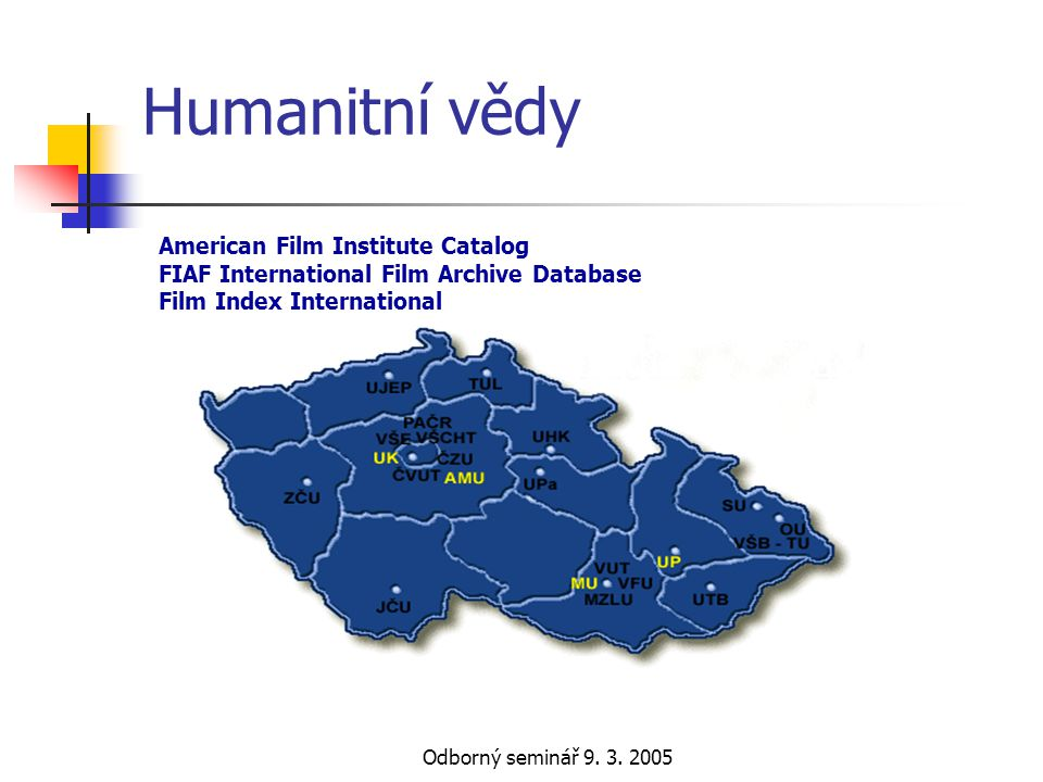 Humanitní vědy American Film Institute Catalog