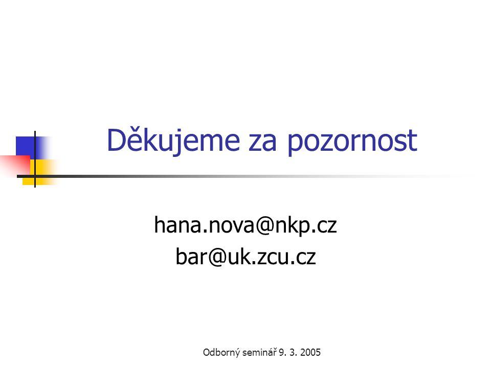 hana.nova@nkp.cz bar@uk.zcu.cz
