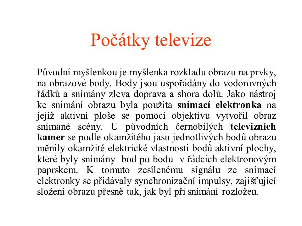 Počátky televize