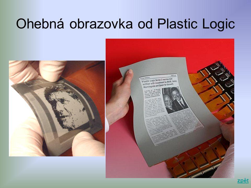 Ohebná obrazovka od Plastic Logic