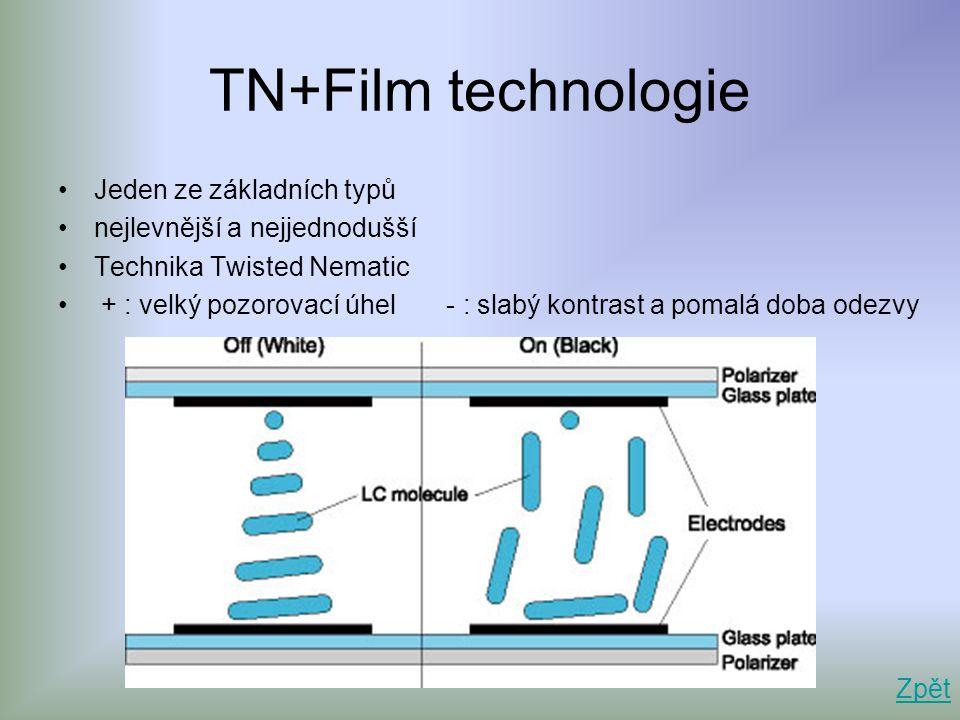 TN+Film technologie Jeden ze základních typů