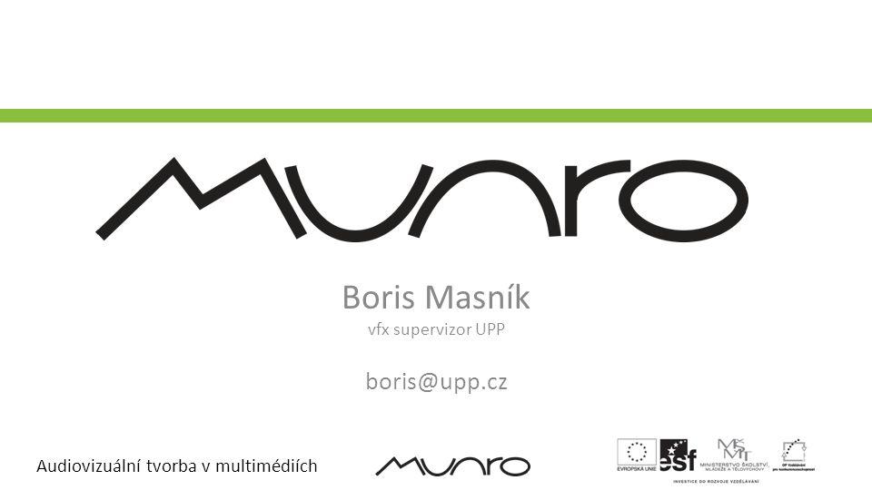 Boris Masník vfx supervizor UPP boris@upp.cz