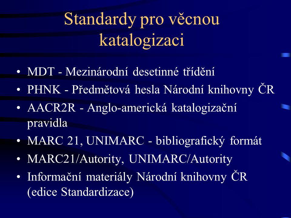 Standardy pro věcnou katalogizaci
