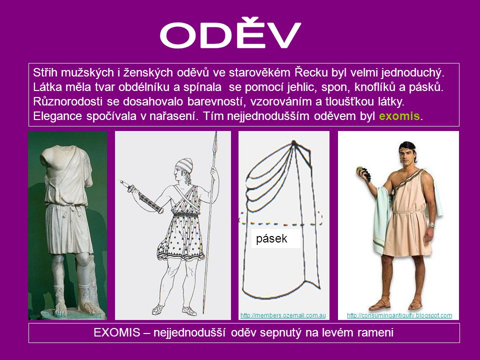 EXOMIS – nejjednodušší oděv sepnutý na levém rameni