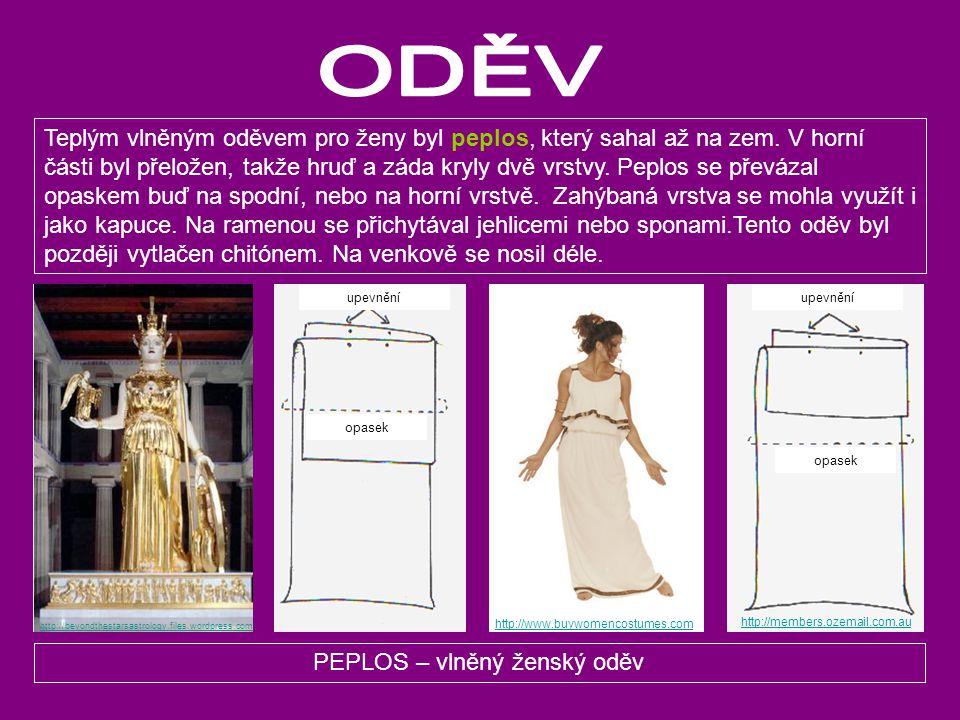 PEPLOS – vlněný ženský oděv