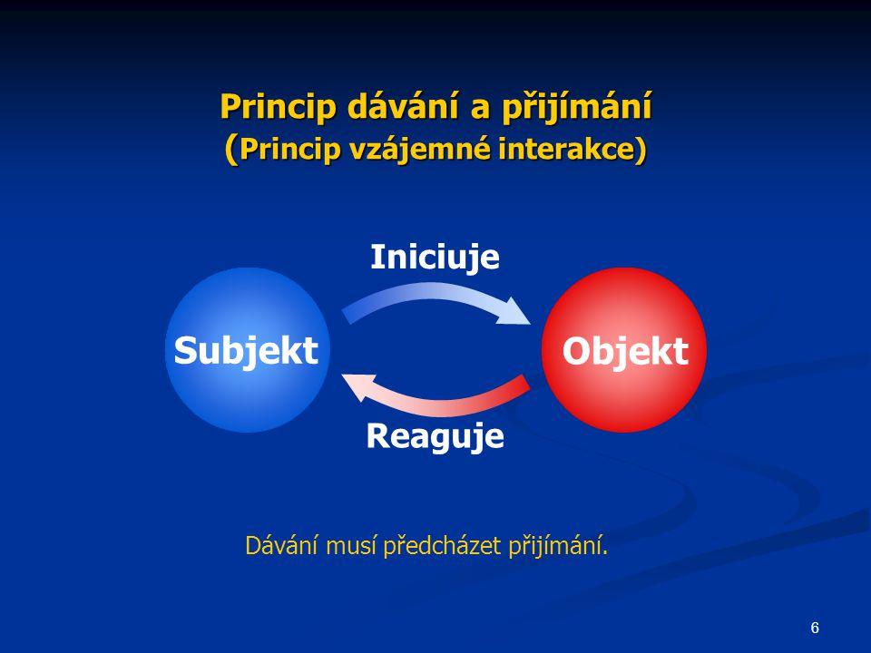 Princip dávání a přijímání (Princip vzájemné interakce)