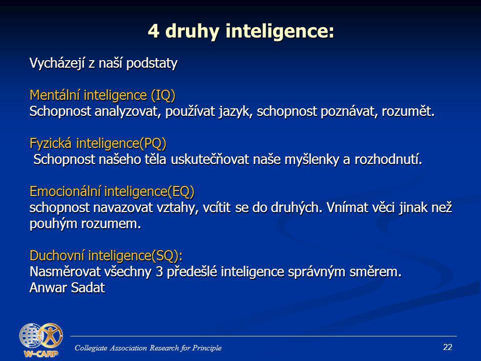 4 druhy inteligence: Vycházejí z naší podstaty