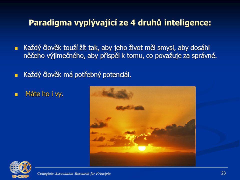 Paradigma vyplývající ze 4 druhů inteligence: