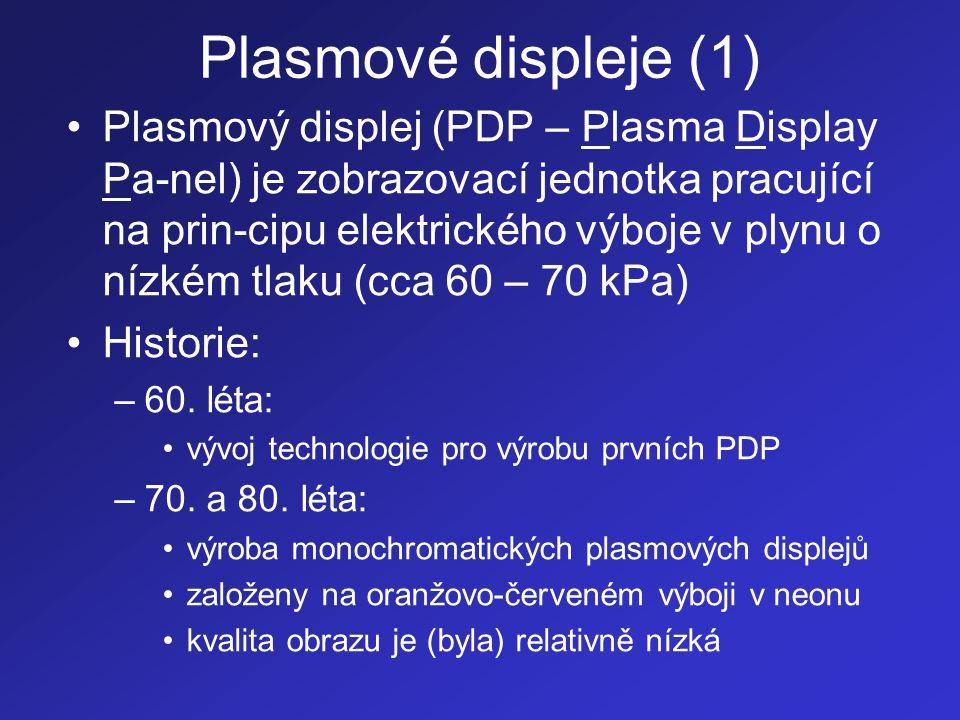 Plasmové displeje (1)