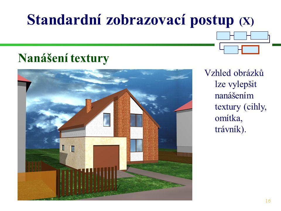 Standardní zobrazovací postup (X)