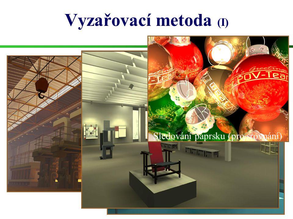 Vyzařovací metoda (I) Jaké obrázky čekáme