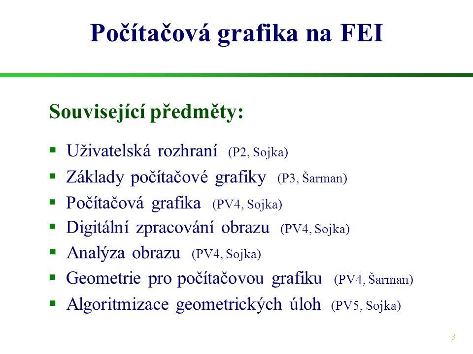 Počítačová grafika na FEI