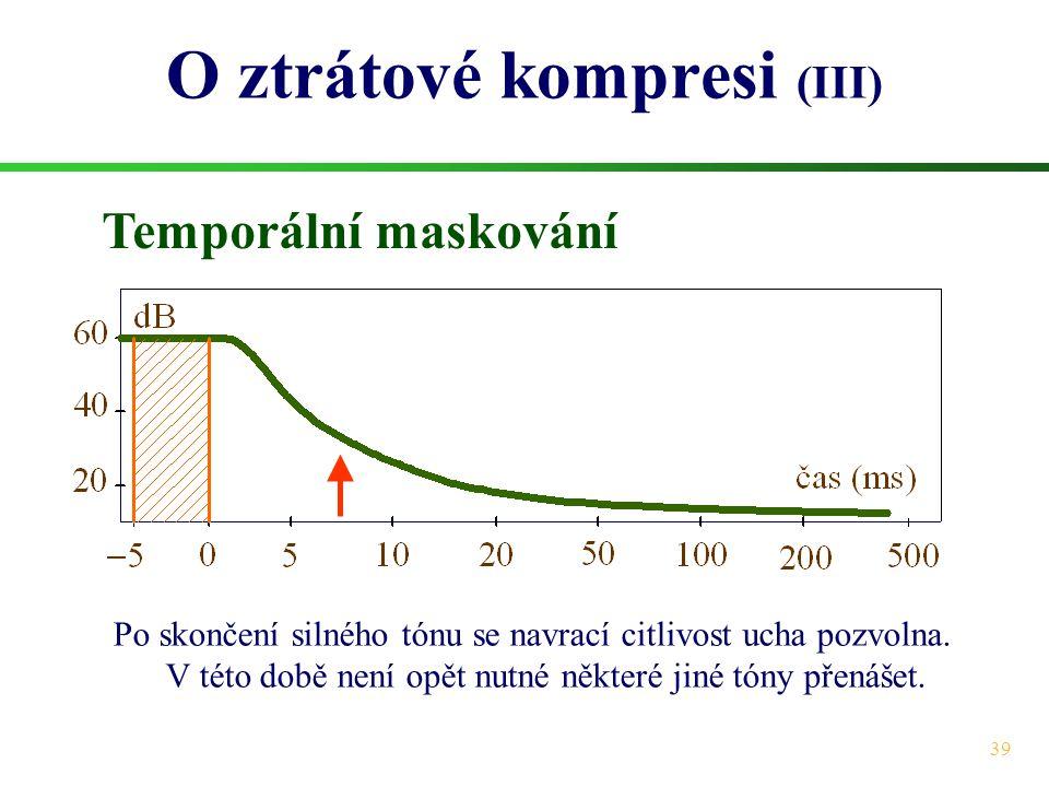 O ztrátové kompresi (III)
