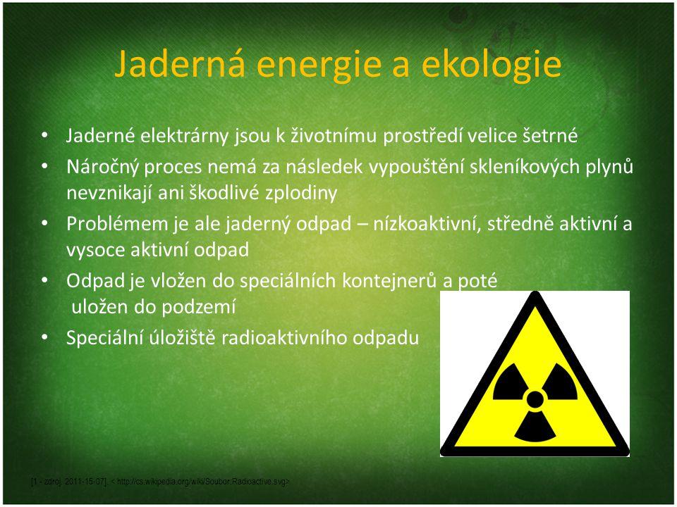 Jaderná energie a ekologie