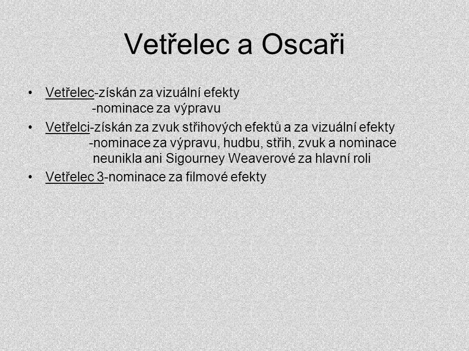 Vetřelec a Oscaři Vetřelec-získán za vizuální efekty -nominace za výpravu.