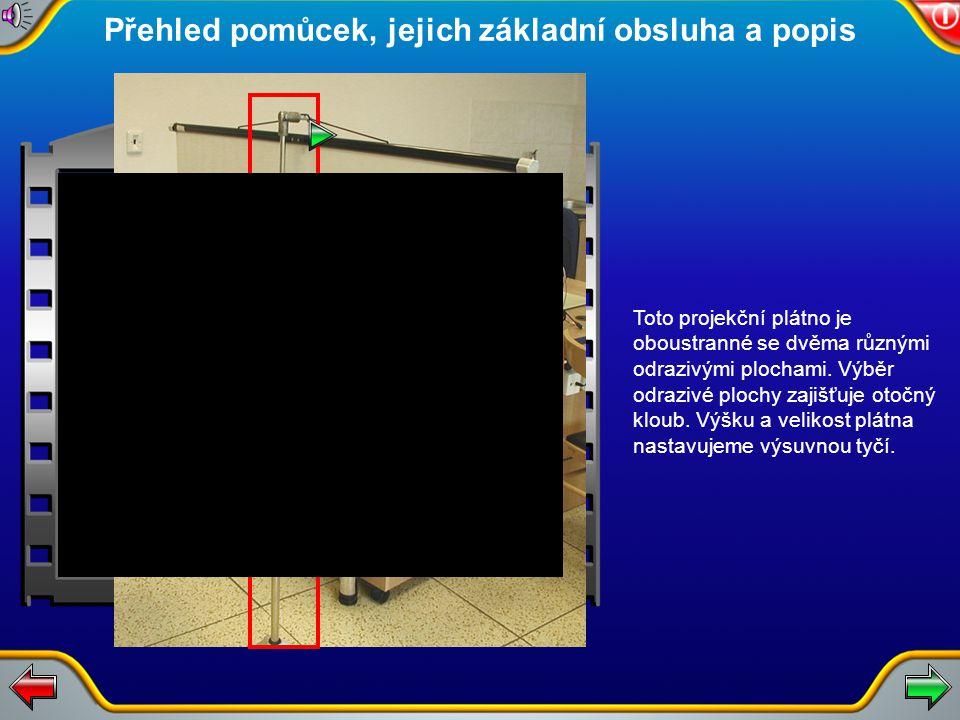 Manipulace s projekčním plátnem