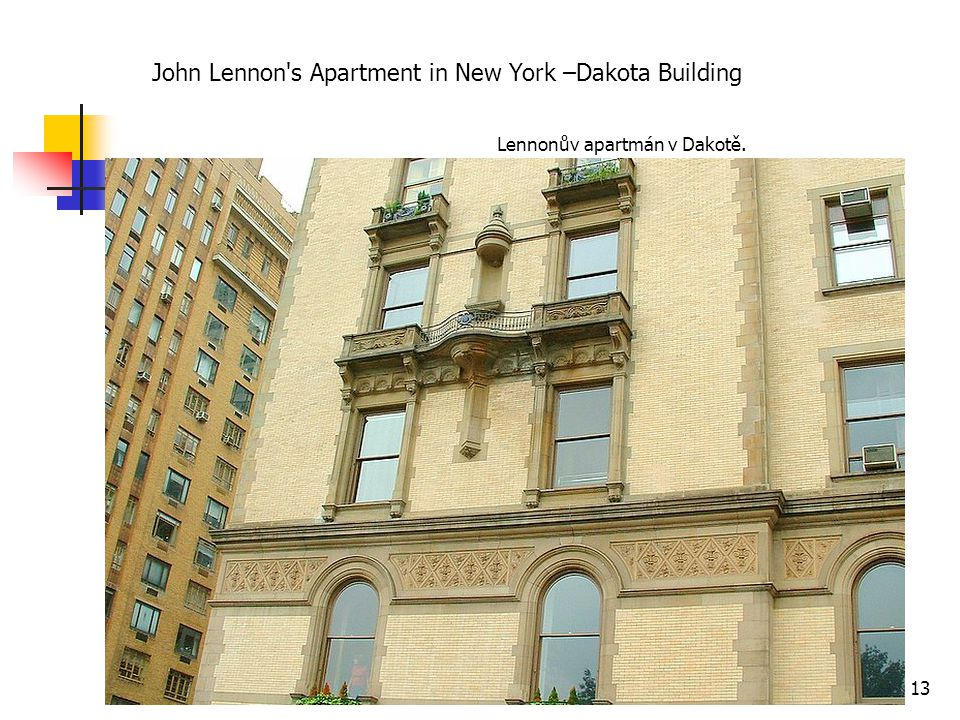 John Lennon s Apartment in New York –Dakota Building