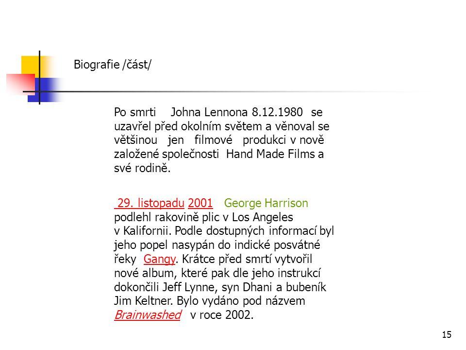 Biografie /část/
