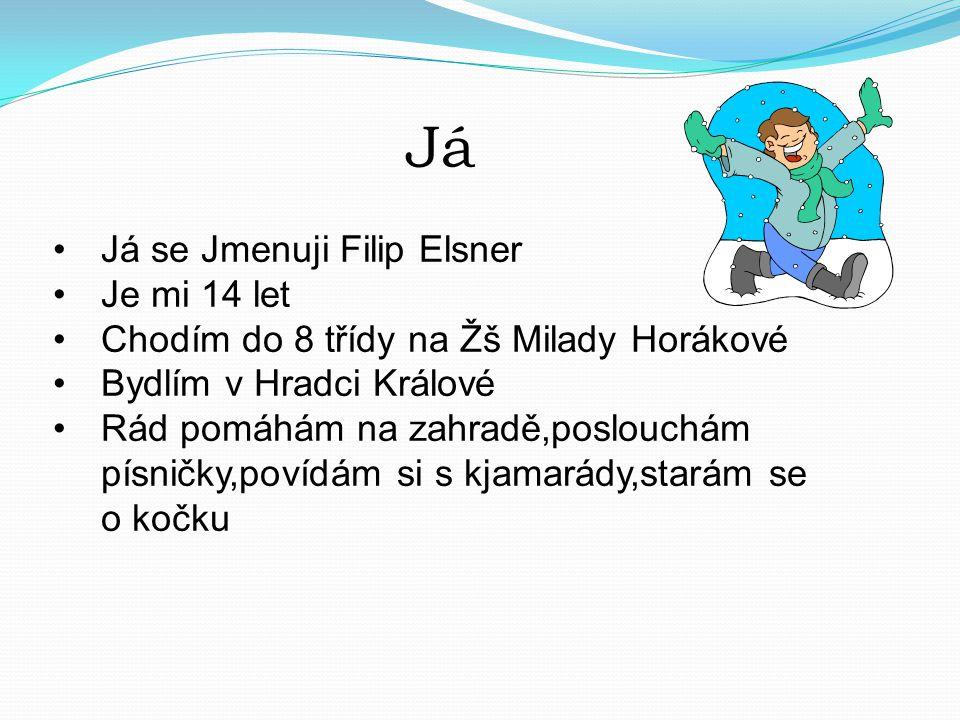 Já Já se Jmenuji Filip Elsner Je mi 14 let