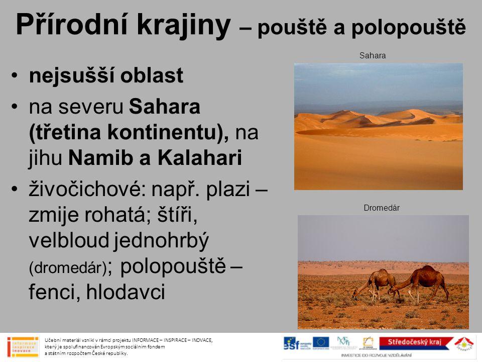Přírodní krajiny – pouště a polopouště