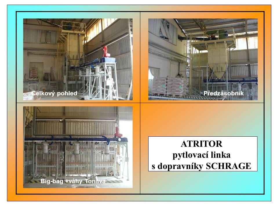 ATRITOR pytlovací linka s dopravníky SCHRAGE