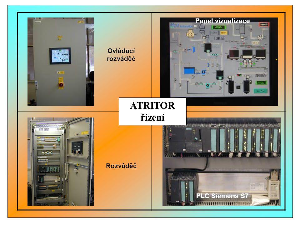 ATRITOR řízení Panel vizualizace Ovládací rozváděč Rozváděč