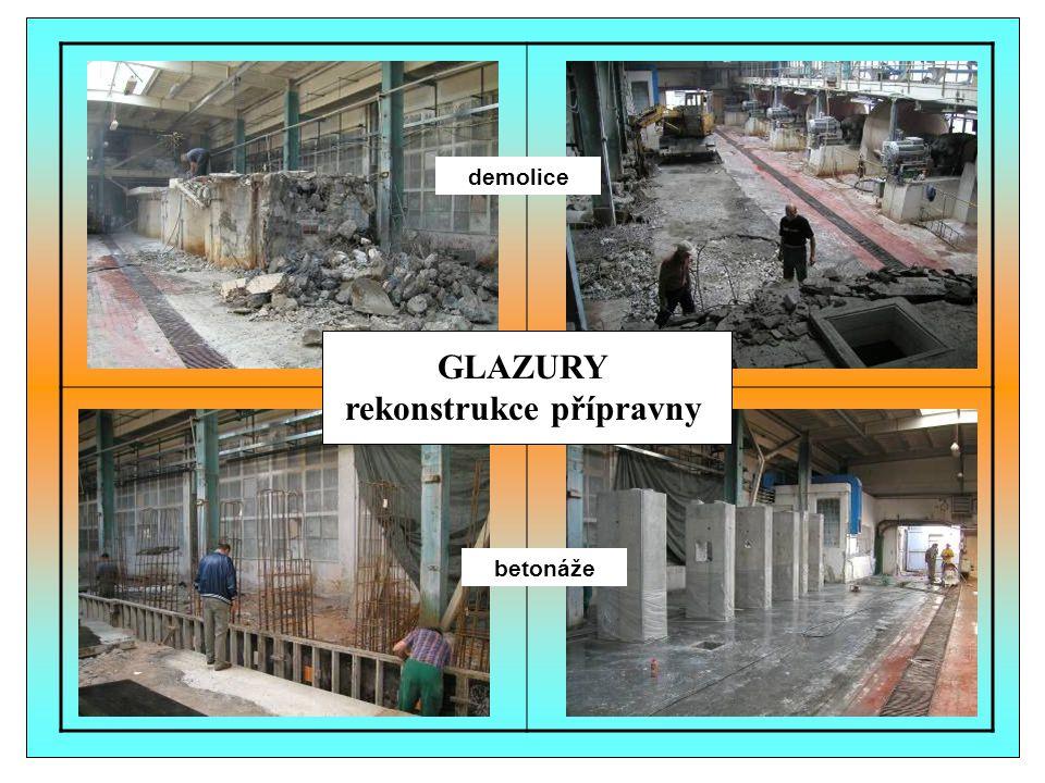GLAZURY rekonstrukce přípravny
