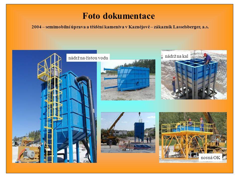 Foto dokumentace 2004 – semimobilní úprava a třídění kameniva v Kaznějově – zákazník Lasselsberger, a.s.
